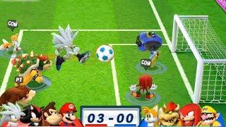 Mario & Sonic At The London 2012 Olympic Games Football #79 Team Mario, Donkey Kong, Shadow, Silver