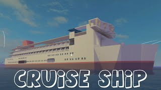 My Biggest Build Yet... A Cruise Ship // Roblox Defaultio's New Game
