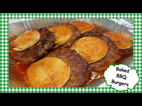 Amish Baked BBQ Burgers ~ Oven Baked Barbecue Hamburger Recipe