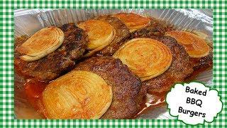 Amish Baked BBQ Burgers ~ Oven Baked Barbecue Hamburger Recipe