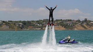 Flyboarding at the Frankston Waterfront Festival 2016