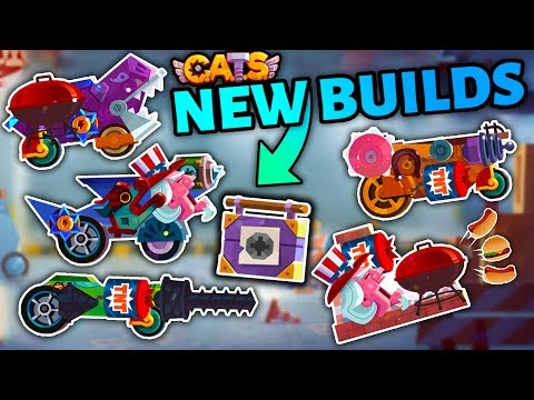 C.A.T.S MAKING NEW BUILDS WITH NEW PARTS & EXTRA WEAPON SLOT TOOLBOX  Crash Arena Turbo Stars