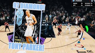 NBA2K18 MyTeam *NEW* Diamond Tony Parker is a Point God!!! Best Court Vision in the Game!!!
