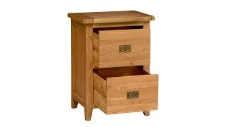 Vancouver Oak 2 Drawer Filing Cabinet - Pinesolutions