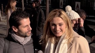 EXCLUSIVE : Julie Gayet and Kad Merad at RTL radio station in Paris
