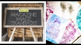 Gel Press 1-Step Fashion Magazine Image Transfers by Sally Lynn MacDonald