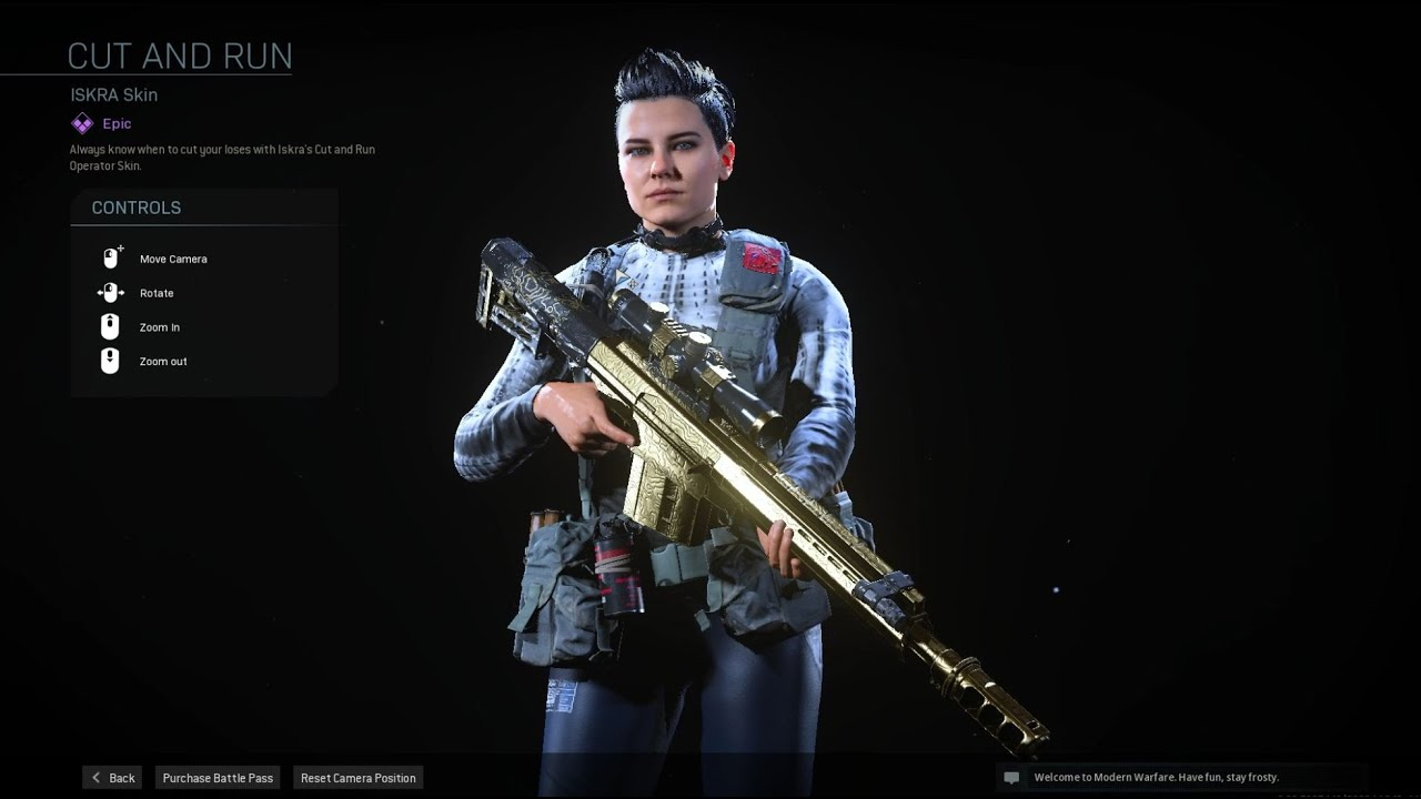 This Is What You Get In Season 5 New Iskra Skin Call Of Duty Modern Warfare Youtube