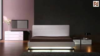 Infinity - Contemporary Platform Bed With Lights Vgkcinfinity