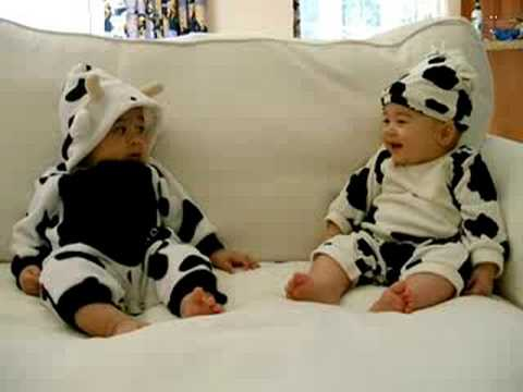 mom dressed you up like a cow!