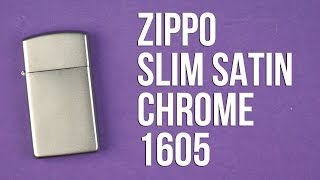 Распаковка Zippo Slim Satin Chrome 1605