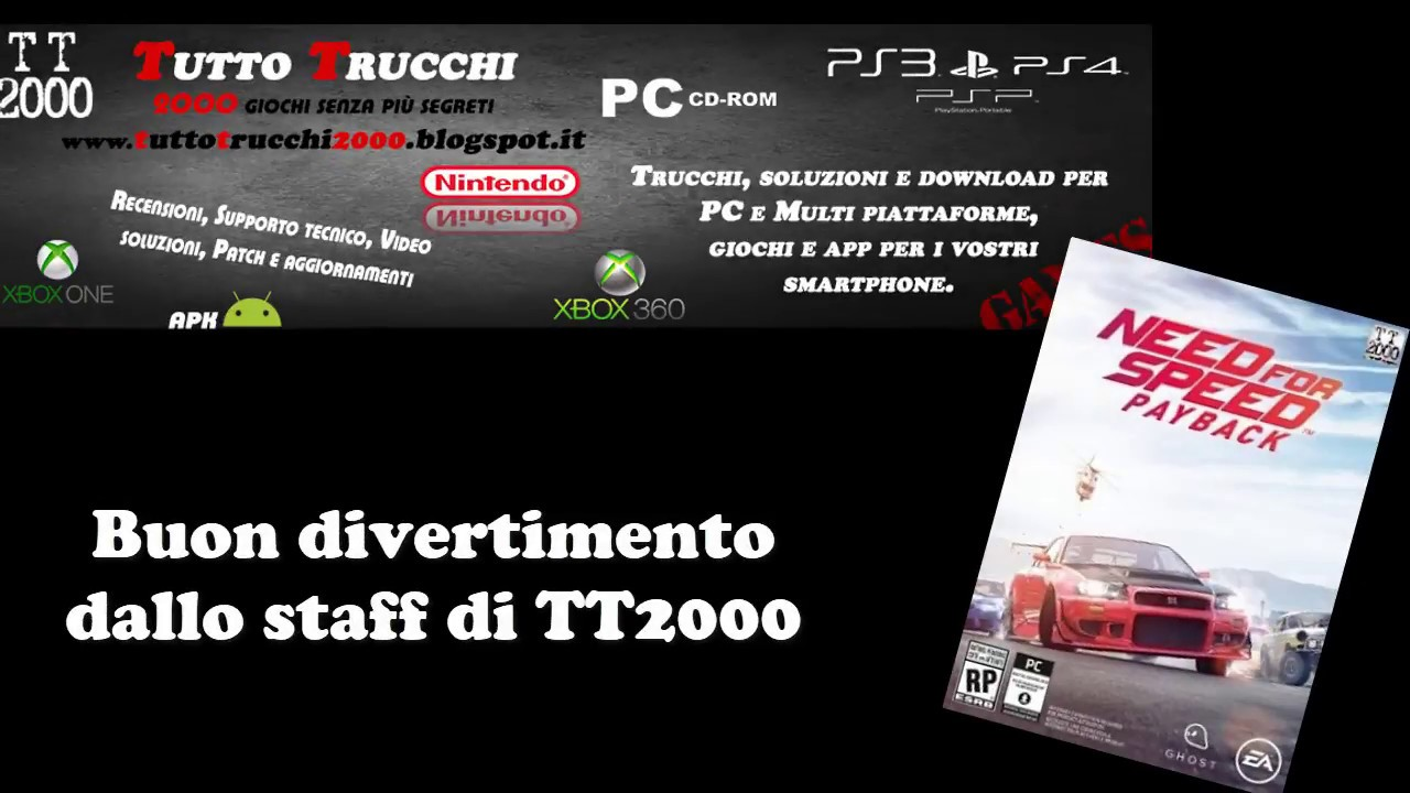 trucchi need for speed payback