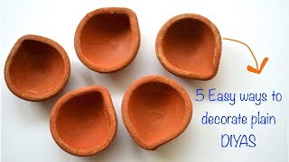 DIWALI DECOR DIY SERIES 2017 I 5 DIYA PA...