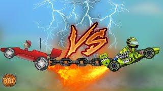 RACE CAR VS FORMULA - Hill Climb Racing 1 & 2 [Full HD]
