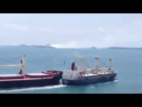 Ship crash in Singapore Ship Accidents