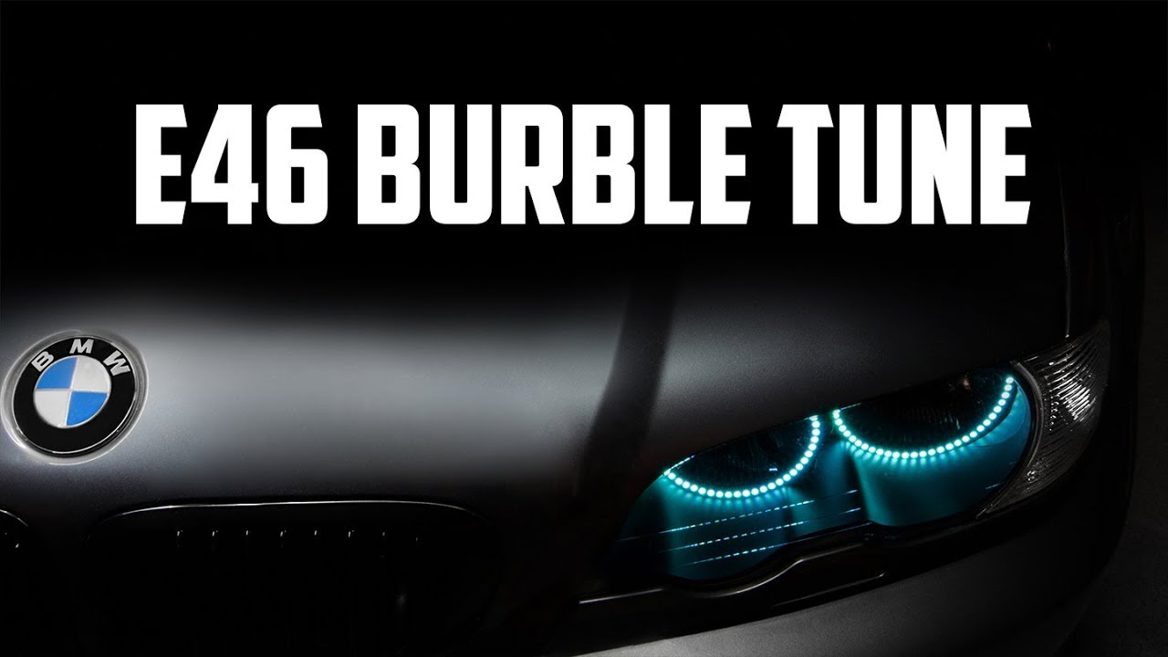 BMW E46 Burble Tune Test