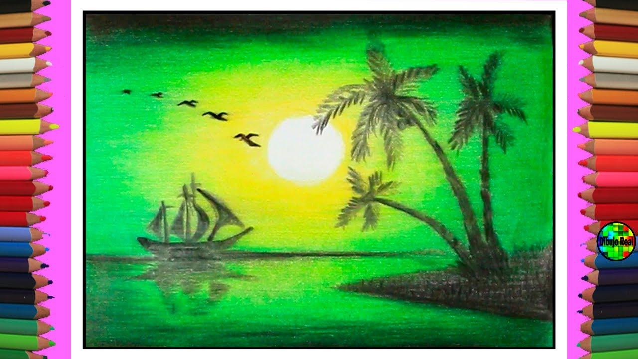 Técnica para pintar con lápices de colores  un paisajes