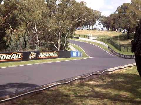 f1 car  Mt panorama Bathurst. Craig Lowndes driving hard