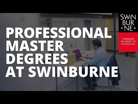 Professional Masters Degree at Swinburne