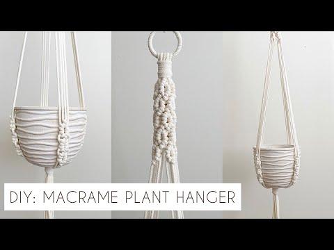 DIY: MACRAME PLANT HANGER TUTORIAL | INTERMEDIATE MACRAME | HOW TO MAKE A PLANT HANGER