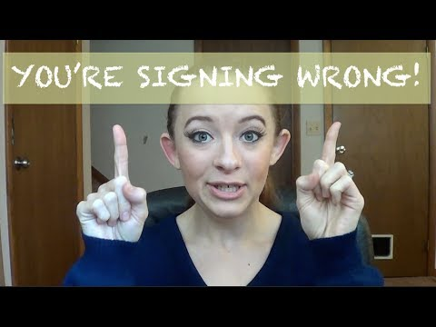"You're Signing Wrong!  ""Regional Signs"""