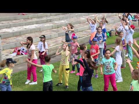 Видео, Флешмоб на Воробьевых горах. 30052015