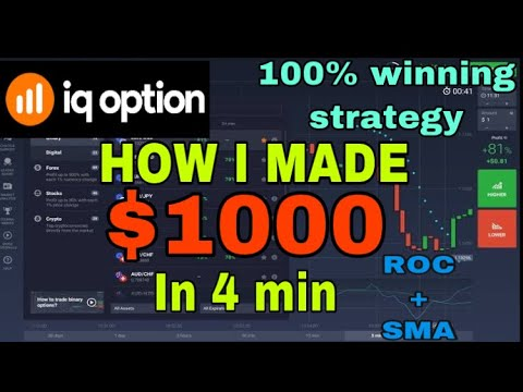 iq option || rate of change indicator || binary options stra