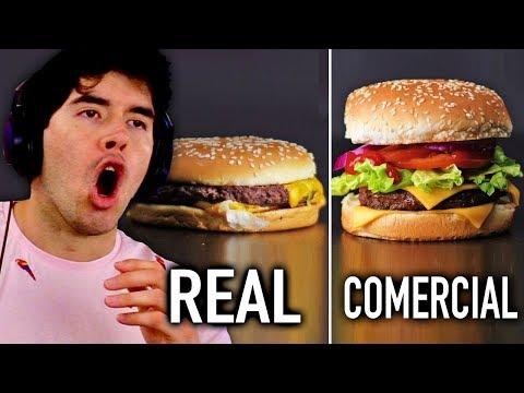 COMIDA EN COMERCIALES vs. COMIDA REAL