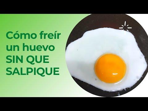 Cómo freír un huevo SIN QUE SALPIQUE #shorts | Trucos de Cocina #009