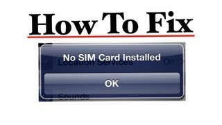 How to  Fix No Sim Card Installed and No Service Messages on all iPhone and iPad models