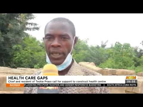 Chief and resident of Teshie Praso call for support to construct health center- Adom TV (14-7-21)