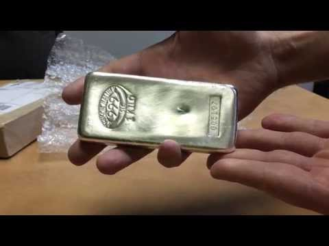Johnson Matthey Silver Kilo Bar - JM Bullion Unboxing