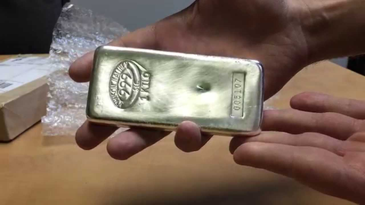 Johnson Matthey Silver Kilo Bar Jm Bullion Unboxing