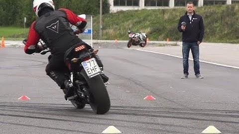 Moottoripyörän käsittelykoe