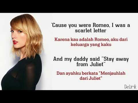 Love Story - Taylor Swift (Lyrics Video Dan Terjemahan)