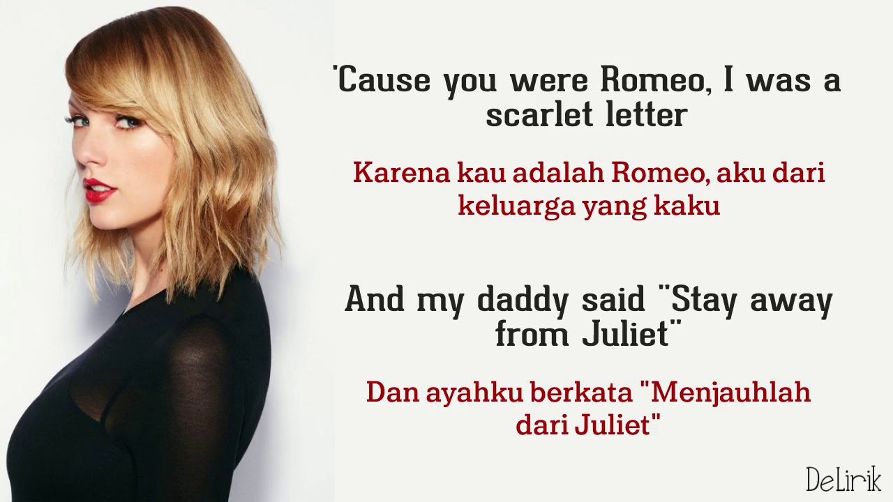 Love Story - Taylor Swift (Lirik video dan terjemahan)