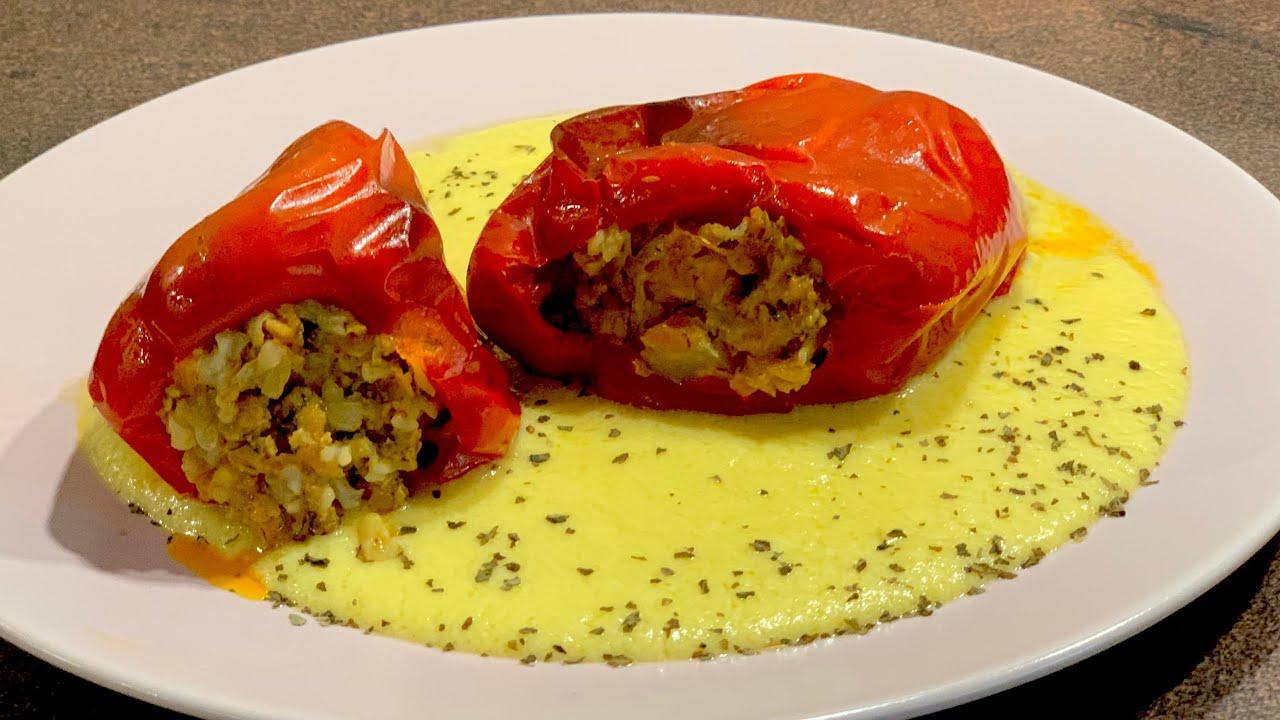 Пълнени чушки (пиперки) с кайма и ориз -стъпка по стъпка към невероятно вкусен резултат...ммм...