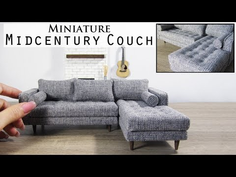 DIY Miniature Sectional Couch