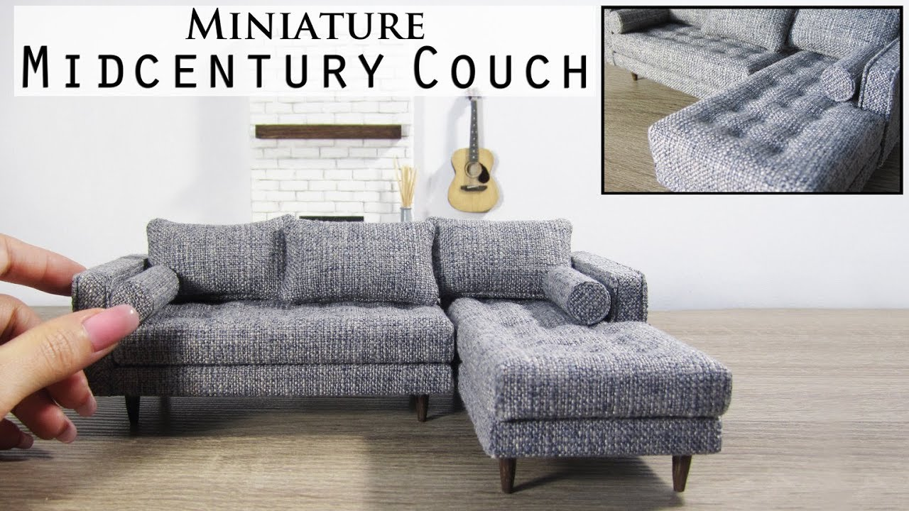 DIY Miniature Sectional Couch - YouTube
