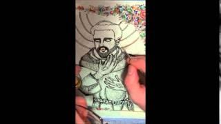 Jesus Christ Painting And Saint Francis Drawing by La Bottega Di Malastrana - Religious Art