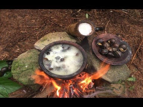 Primitive Survival Skills: Primitive Technology Looking For Food (Pila conica)