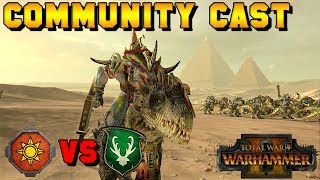 HORNED ONES GONE WILD! Ares (Wood Elves) vs. Felkon (Lizardmen) | Total War: Warhammer 2