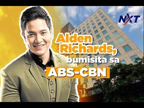 Alden Richards, bumisita sa ABS-CBN