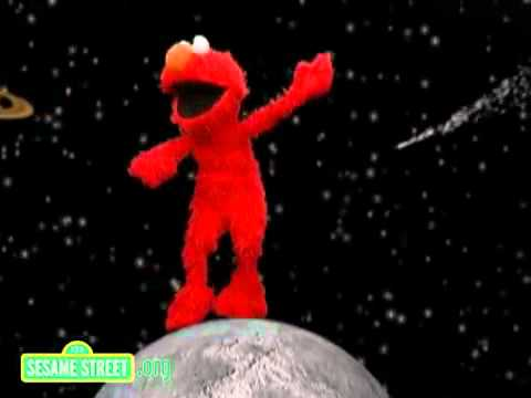 elmo busting some moves