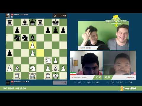 Speed Chess Junior Avec Vlad Tkachiev: 1/2 Finale Maghsoodloo Contre Xiong