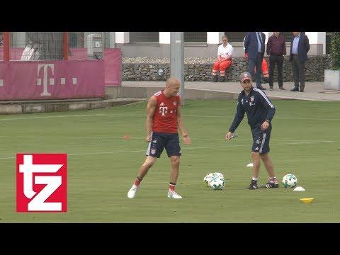 FC Bayern: Anpeitscher Arjen Robben wieder im Training