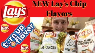 ALL NEW Lay's Chip Flavors Food Review   MegaCanaga