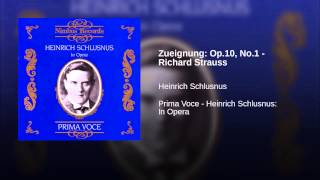 Zueignung: Op.10, No.1 - Richard Strauss