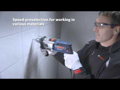 """Bosch GSB 13 RE Professional Κρουστικό Δράπανο 600W με Θήκη και με Σετ 4 τρυπανιων MultiConstruction """" RobustLine"""" CYL-9 (4,5,6,8mm)"""