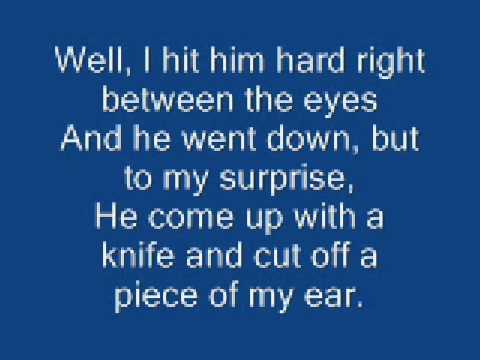Johnny Cash  Boy Named Sue    With Lyrics
