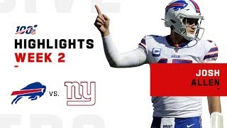 Josh Allen Throws & Rushes for 2 TDs | 2019 NFL Highlights